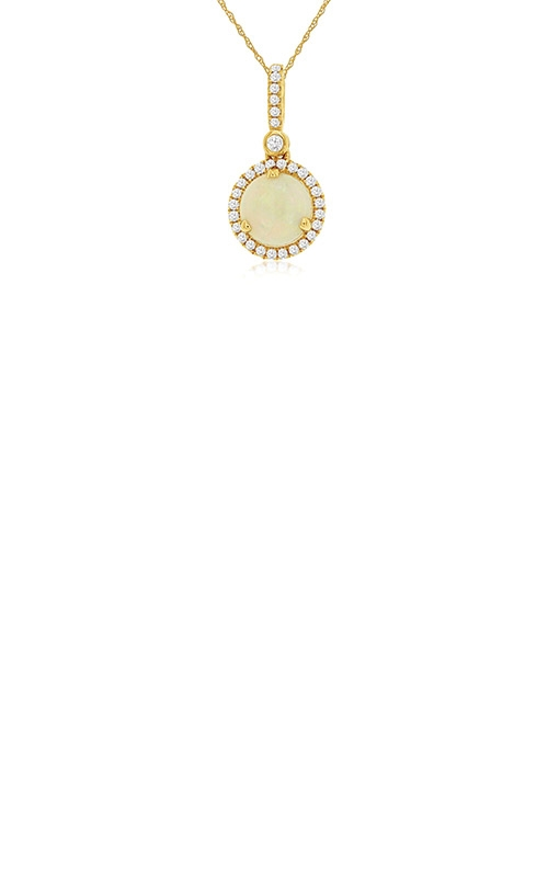 Albert's 14k Yellow Gold 1.03ctw Opal and Diamond Necklace C6397F product image