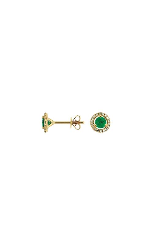 Albert's 14k Yellow Gold .85ctw Emerald and Diamond Stud Earrings C6404E product image