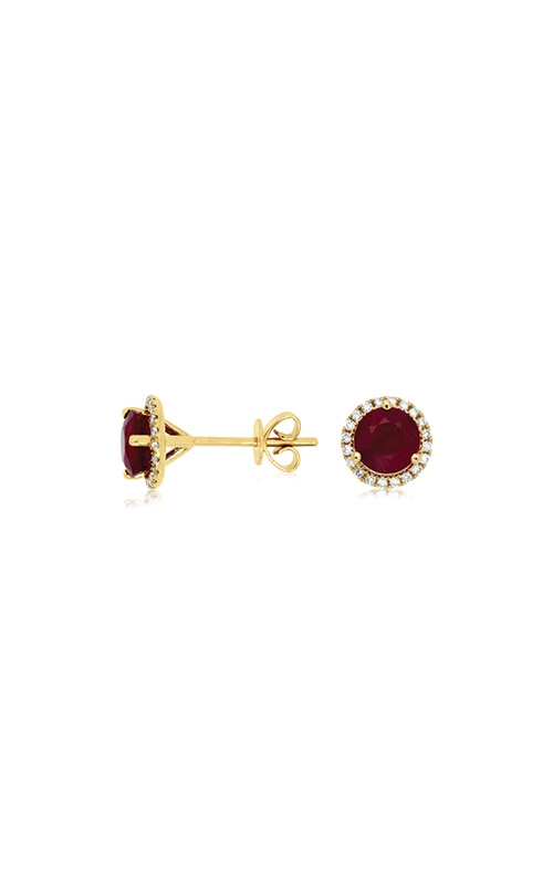 Albert's 14k Yellow Gold 1.66ctw Ruby and Diamond Earrings C6405RB product image