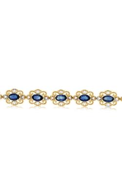 Albert's 14k Yellow Gold 5.07ctw Blue Sapphire Bracelet C7240SP product image