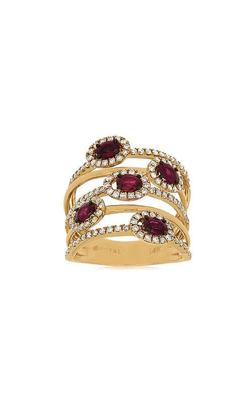 Albert's 14k Yellow Gold 1.65ctw Ruby and Diamond Ring C7350RB product image