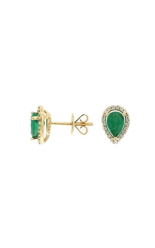 Albert's 14k Yellow Gold .87ctw Emerald and Diamond Stud Earrings C7394EM product image