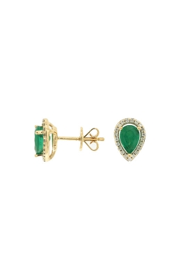Albert's 14k Yellow Gold .87ctw Emerald And Diamond Stud Earrings C7394EM product image