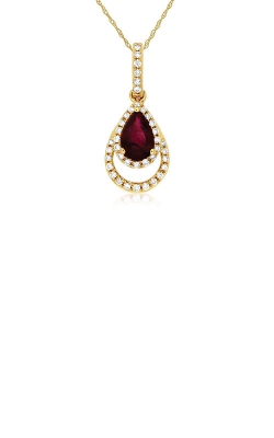 Albert's 14k Rose Gold .58ctw Ruby And Diamond Necklace C7762RB product image