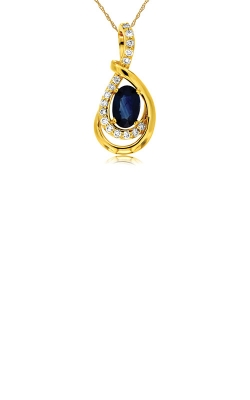 Albert's 14k Yellow Gold .78ctw Blue Sapphire And Diamond Necklace C7931SP product image