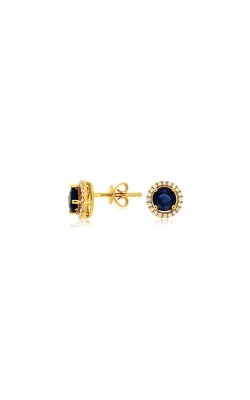 Albert's 14k Yellow Gold 1.25ctw Blue Sapphire And Diamond Earrings C7939S product image