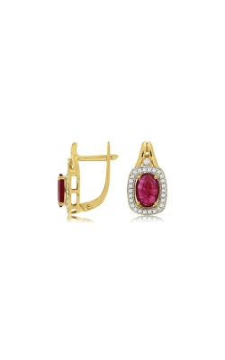Albert's 14k Yellow Gold 1.98ctw Ruby And Diamond Earrings C8417RB product image