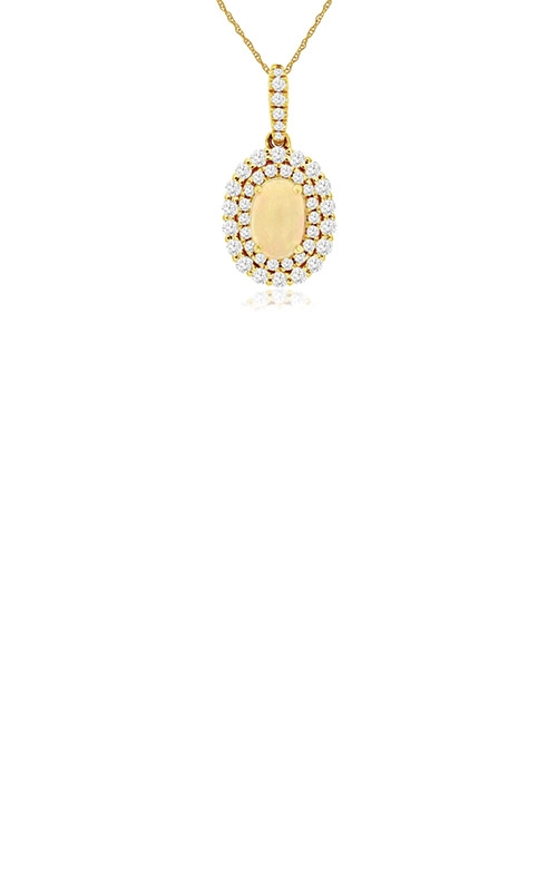 Albert's 14k Yellow Gold .89ctw Opal and Diamond Necklace C8531F product image