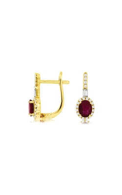 Albert's 14k Yellow Gold 1.02ctw Ruby And Diamond Earrings C8538RB product image