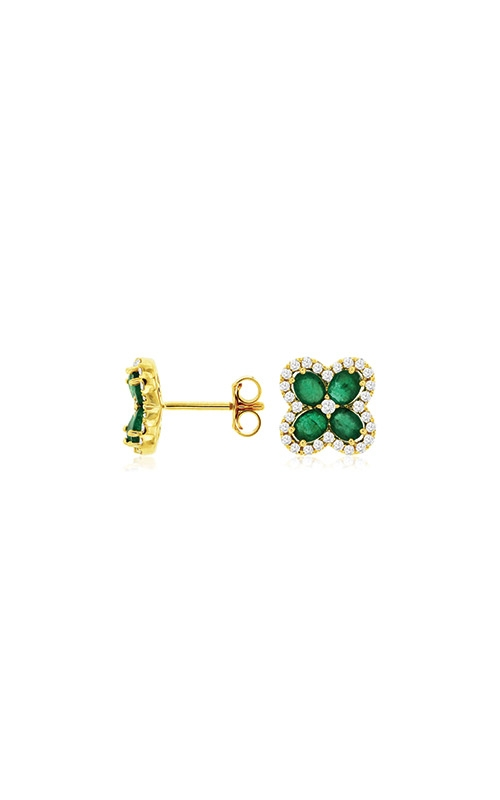 Albert's 14k Yellow Gold 1.65ctw Emerald and Diamond Stud Earrings C8618EM product image