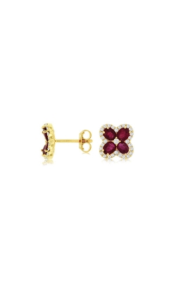 Albert's 14k Yellow Gold 1.98ctw Ruby And Diamond Earrings C8618RB product image
