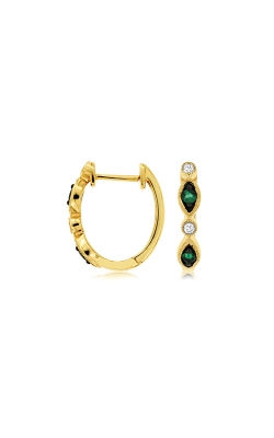 Albert's 14k Yellow Gold .26ctw Emerald And Diamond Earrings C8651EM product image