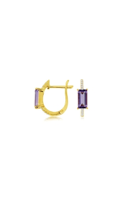Albert's 14k Yellow Gold 1.08ctw Amethyst And Diamond Earrings C8838AM product image