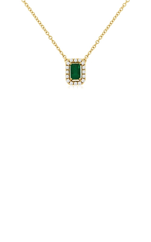 Albert's 14k Yellow Gold .39ctw Emerald and Diamond Necklace C9325EM product image