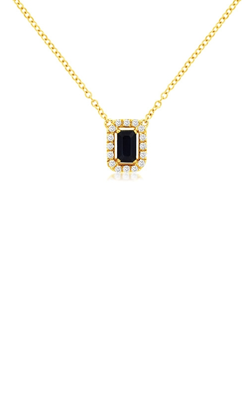 Albert's 14k Yellow Gold .48ctw Blue Sapphire and Diamond Necklace C9325SP product image