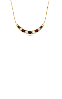 Albert's 14k Yellow Gold .50ctw Ruby And Diamond Necklace C9517RB product image
