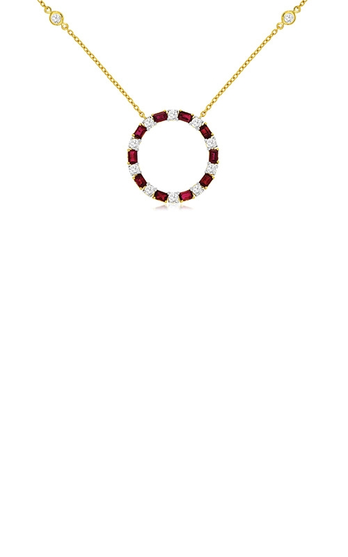 Albert's 14k Yellow Gold 1.80ctw Ruby and Diamond Necklace C9631RB product image