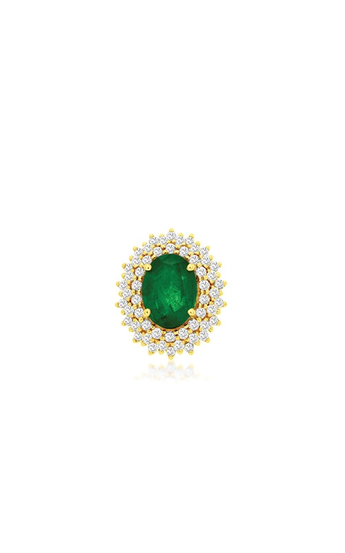 Albert's 14k Yellow Gold 1.43ctw Emerald and Diamond Necklace C9858EM product image
