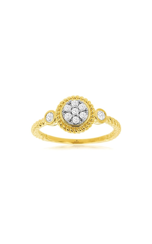 Albert's 14k Yellow Gold .20ctw Diamond Cluster Ring C9907D product image