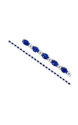 Albert's 18k White Gold 6.21ct Sapphire & .81ct Diamond Bracelet product image