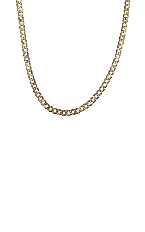 Albert's 14k Two Tone 20 inch 2.5mm Pave Curb Chain CCURB01786 product image