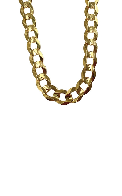 Albert's 14k Yellow Gold 24 inch 8mm Cuban Link Chain CCURB02053 product image