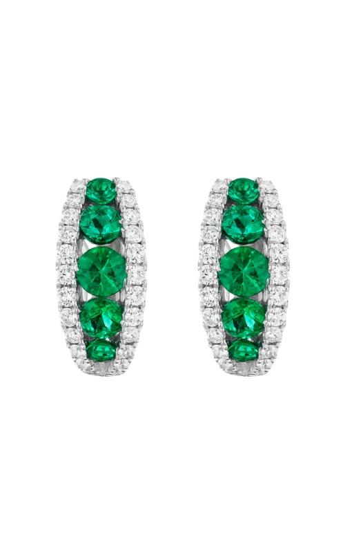 Albert's 18k White Gold .88t Emerald & .44ct Diamond Earrings E6103EM product image