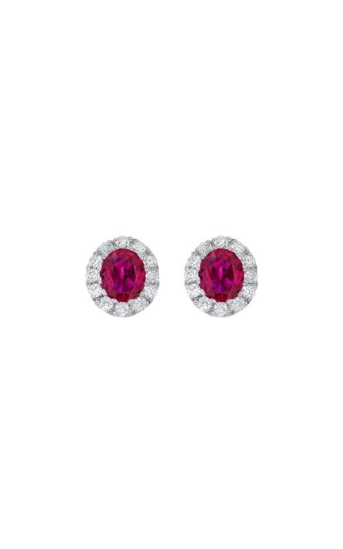 Albert's 18k White Gold 1ct Ruby & .30ct Diamond Earrings E4414-R product image