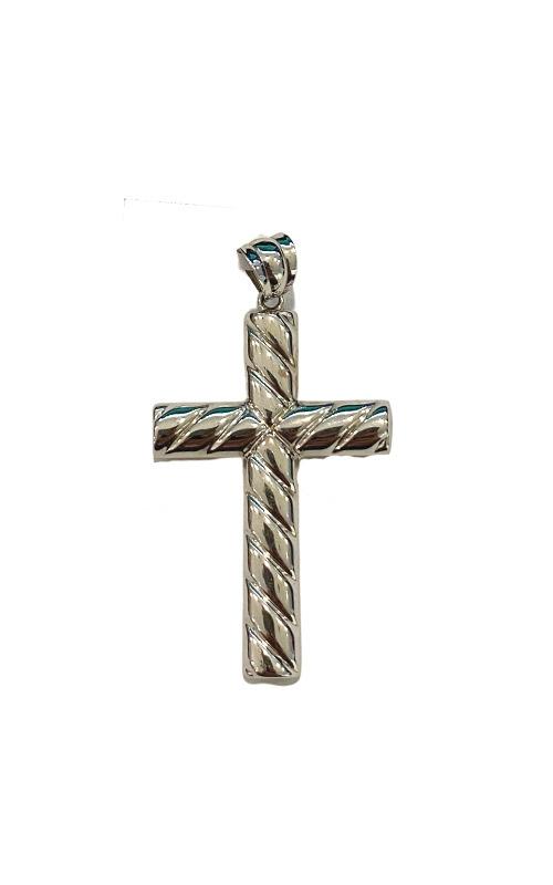 Albert's 14k White Gold Ribbed Cross CR136525W product image
