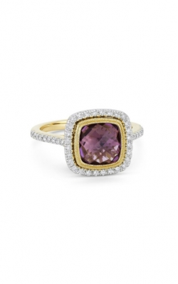Madison L 14k Yellow Gold 2.51ct Amethyst & Diamond Ring R1066AMY product image