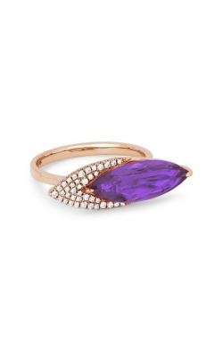 Madison L 14k Rose Gold 6x17 Amethyst & Diamond Ring R1134AMP product image