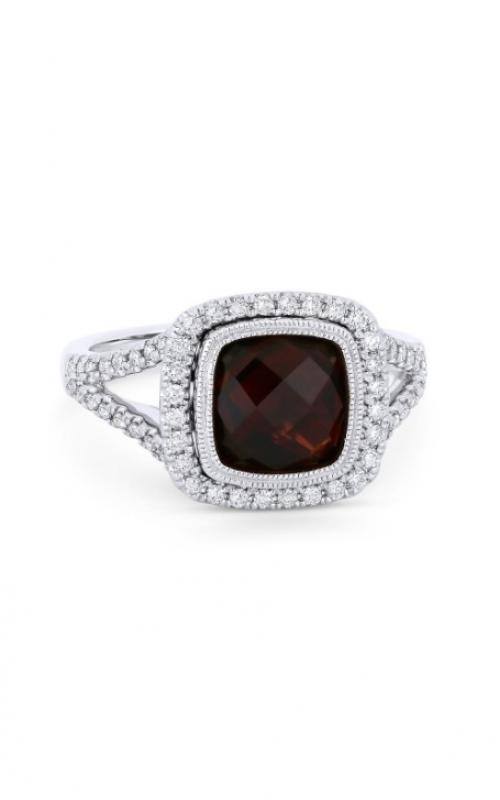 Madison L 14k White Gold 3.23CT Garnet & Diamond Ring R1063GAW product image