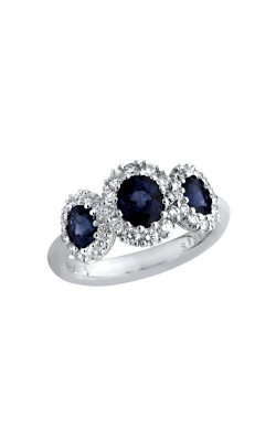 Albert's 18k White Gold 1.85ct Blue Sapphire & .54ct Diamond Ring R4181-S product image