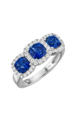 Albert's 18k White Gold 2.10ct Blue Sapphire & .43ct Diamond Ring R5758-S product image