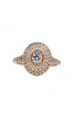 14k Rose Gold & 1ctw Ellipse Diamond Engagement Ring product image