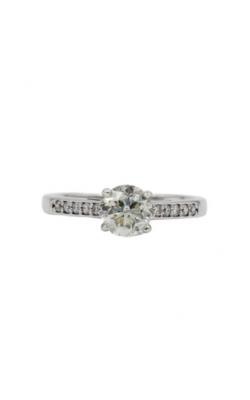 Albert's 14k White Gold & 1.03 Brilliant Round Shape K I1 Diamond Engagement Ring product image