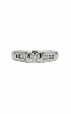 Albert's 14k White Gold & .63ctw Diamond Engagement Ring product image