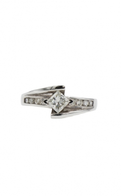 Albert's 14k White Gold & .50 Princess Cut I SI2 Diamond Engagement Ring product image