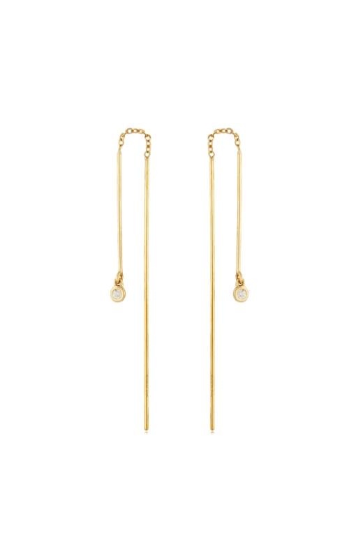 Albert's 14k Yellow Gold & .06ctw Diamond Threader Earrings 13130-D product image