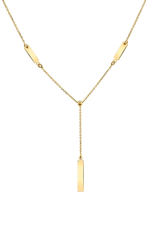Albert's 14k Yellow Gold Drop Bar Necklace DRP88-1718 product image