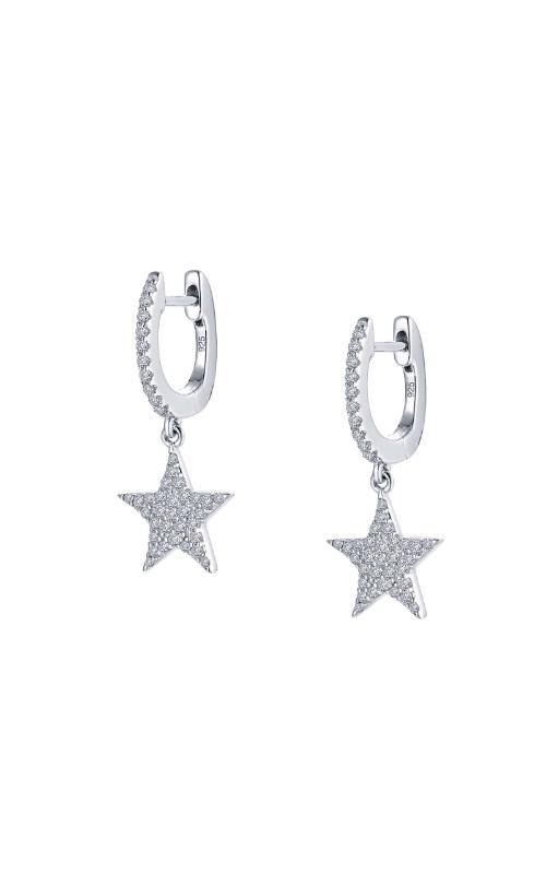 Albert's Sterling Silver CZ Star Dangle Earrings E0355CLP00 product image