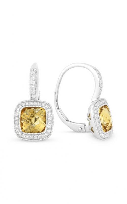 Madison L 14k White Gold Citrine & Diamond Dangle Earrings E1064CTW product image