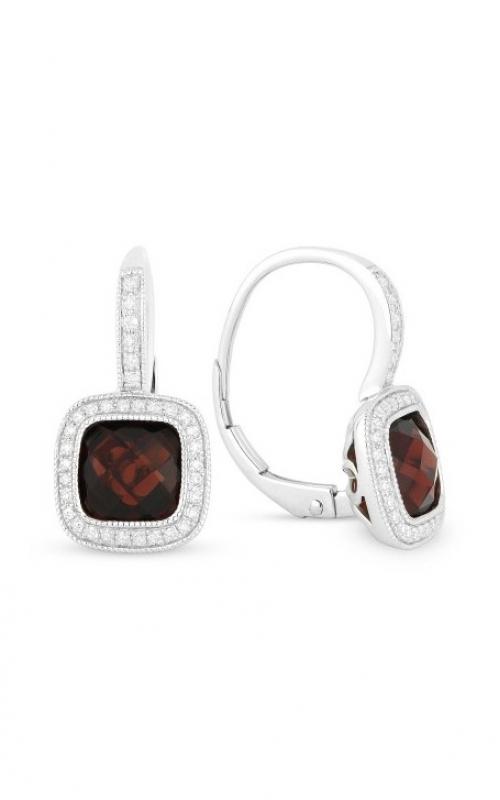 Madison L 14k White Gold Garner & Diamond Earrings E1064GAW product image