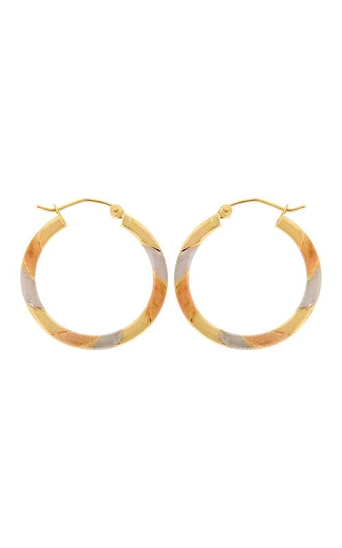 Albert's 14k Tri-Tone Hoop Earrings E1879 product image