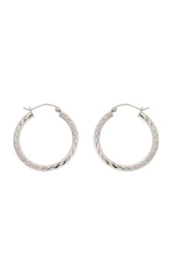 Albert's 14k Yellow Gold Flat Diamond Cut Hoop Earrings E1894-OW product image