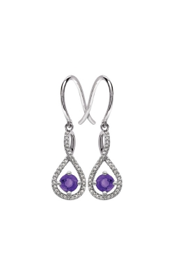 Albert's Sterling Silver Diamond Amethyst Earrings E6232-AM-SS product image