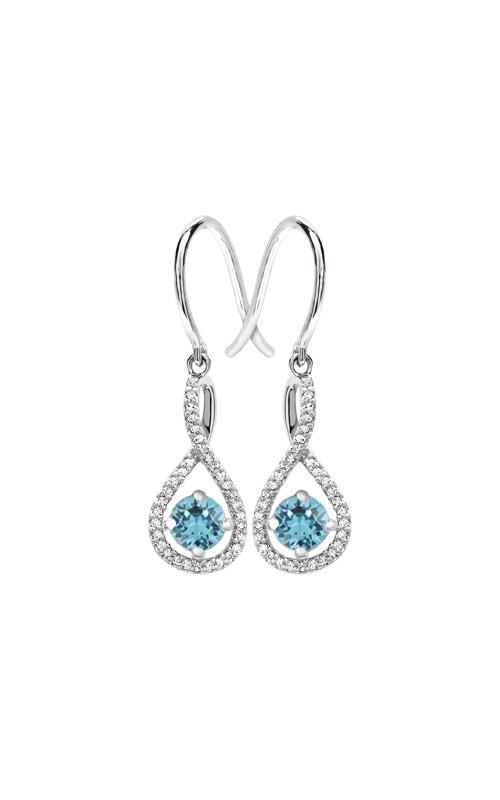 Albert's Sterling Silver Diamond Aquamarine Earrings E6232-AQ-SS product image