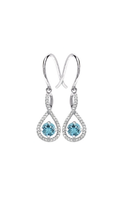 Albert's Sterling Silver Diamond Aquamarine Earrings E6232-AQ-SS product image