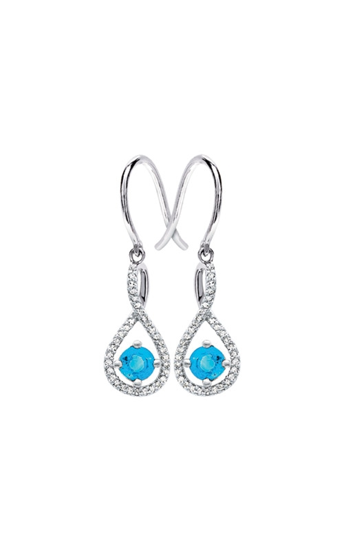 Albert's Sterling Silver Diamond Blue Topaz Earrings E6232-BLTPZ-SS product image