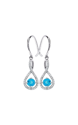 Albert's Sterling Silver Diamond Blue Topaz Earrings E6232-BLTPZ-SS product image